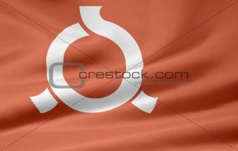 Flag of the japanese province of Fukushima