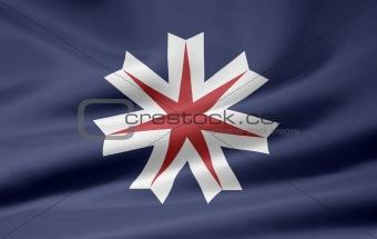 Flag of the japanese province of Hokkaido