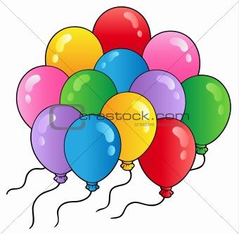 Group of cartoon balloons 2