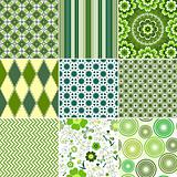 Set green seamless patterns