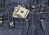 dollars in his back pocket