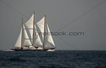 old sailing boat