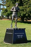 VICTORIA, BC - FEB 17: Terry Fox Statue on Marathon Day 2008