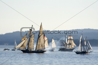Sea Ships Battle, Victoria, BC, Canada