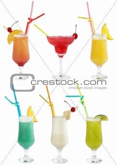 Six cocktails