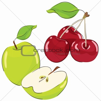 Apple and cherry