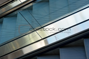 close up of escalator steps
