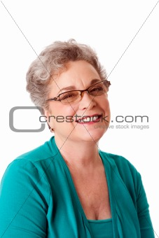 Beautiful Happy smiling senior woman face