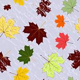 Autumn seamless grunge pattern (vector)