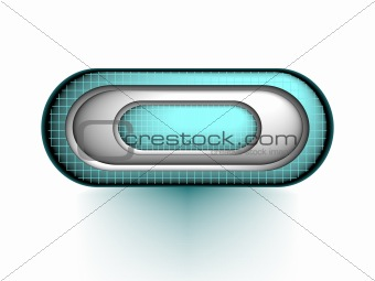 3d button, vector
