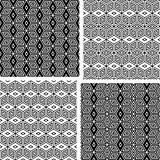 Seamless geometric patterns set.