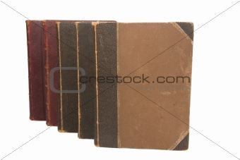 Group Old books brown color