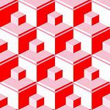 red abstract cubes
