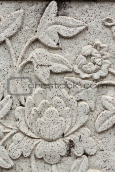 Art stucco flower.