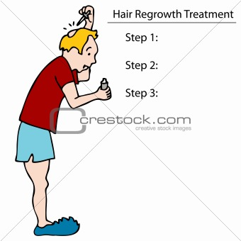 Applying Hair Tonic