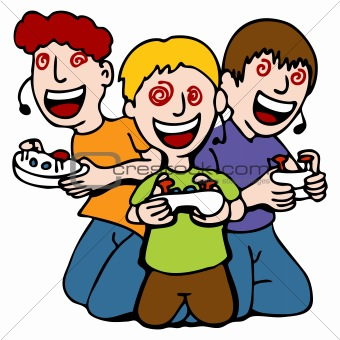People Playing Games Clip Art