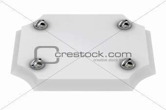 Plate with screw