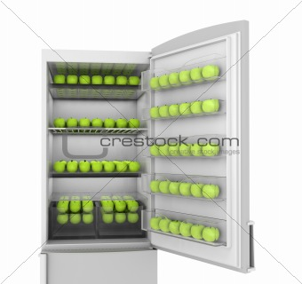 Apples in refrigerator
