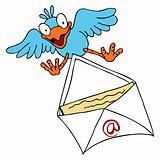 Bird Delivering Email