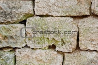 a stone wall