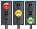 traffic light smiley