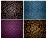 Set Seamless Wallpaper Pattern.