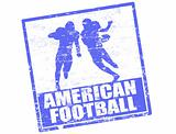American football stamp