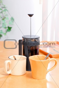 French Press Coffee for Two