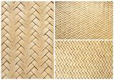 collection of texture bamboo basket for background