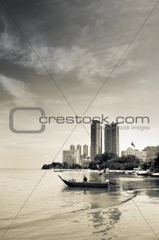 Bay in city