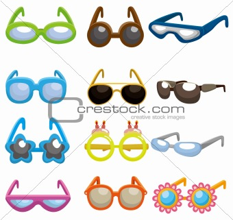 cartoon Sunglasses set icon