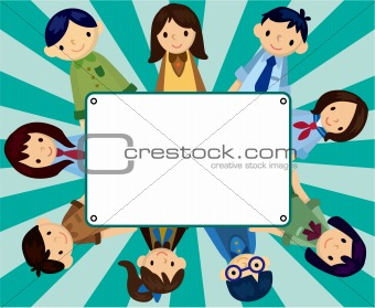 cartoon student card