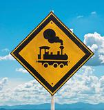 "traffic sign ""beware train"""