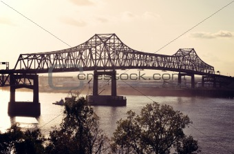 Bridge on Mississippi River in Baton Rouge