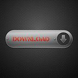 Realistic metallic download button