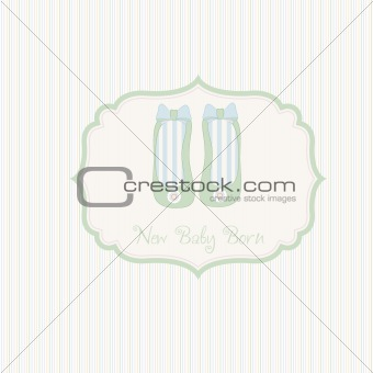baby shower card with shoes