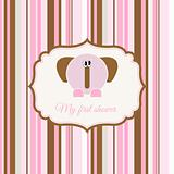 baby shower announcement card with elephant