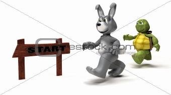 Tortoise and Hare race metaphor