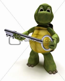 Tortoise with a key