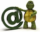 Tortoise with @ symbol