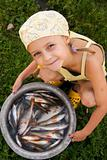 Kid and fishes