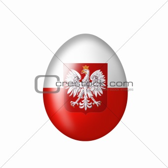 Egg with Polish eagle emblem