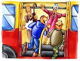 naughty boys on bus stop