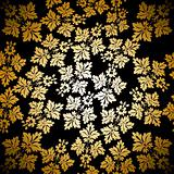Gold seamless wallpaper pattern, vector