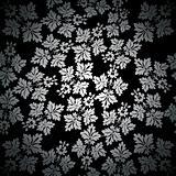 Silver seamless wallpaper pattern, vector