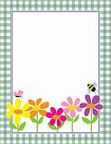Floral Gingham Background
