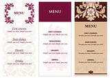 Set Ornamental flowers Menu