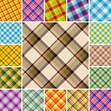 Seamless plaid patterns
