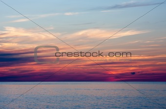 An Evening Sunset Over Water