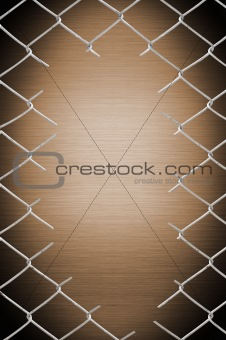 porous on grunge fence see the metal background